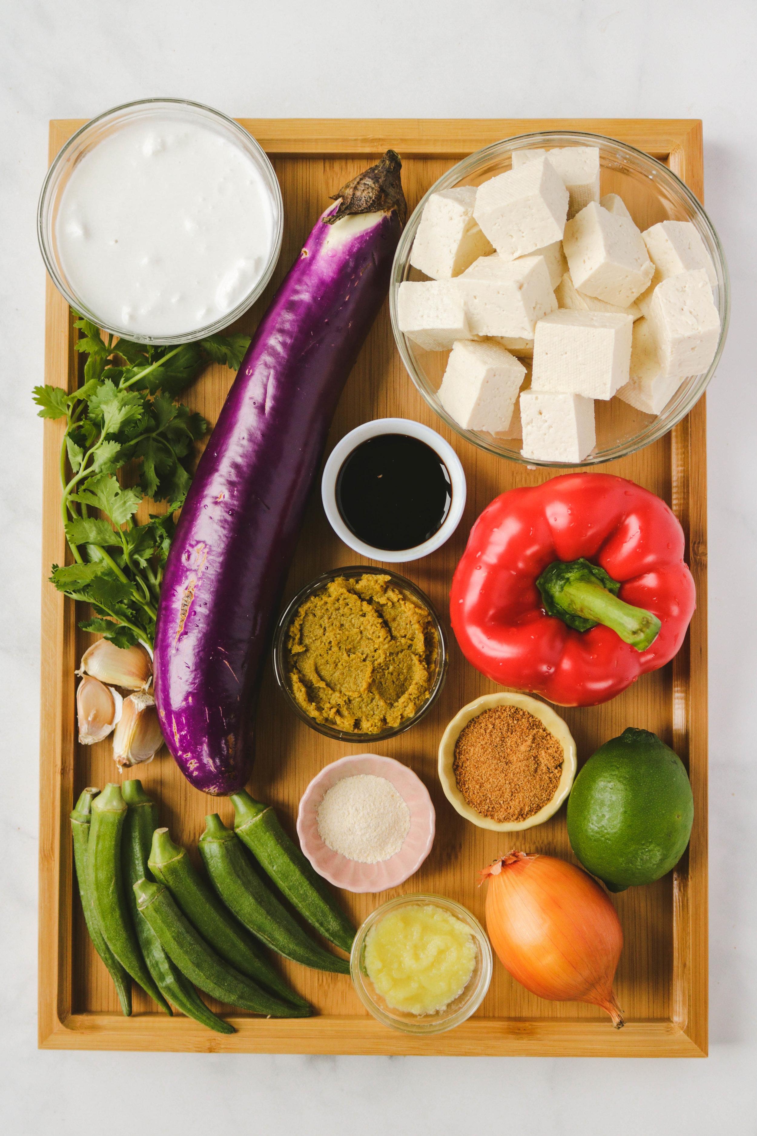 vegan thai green curry ingredients