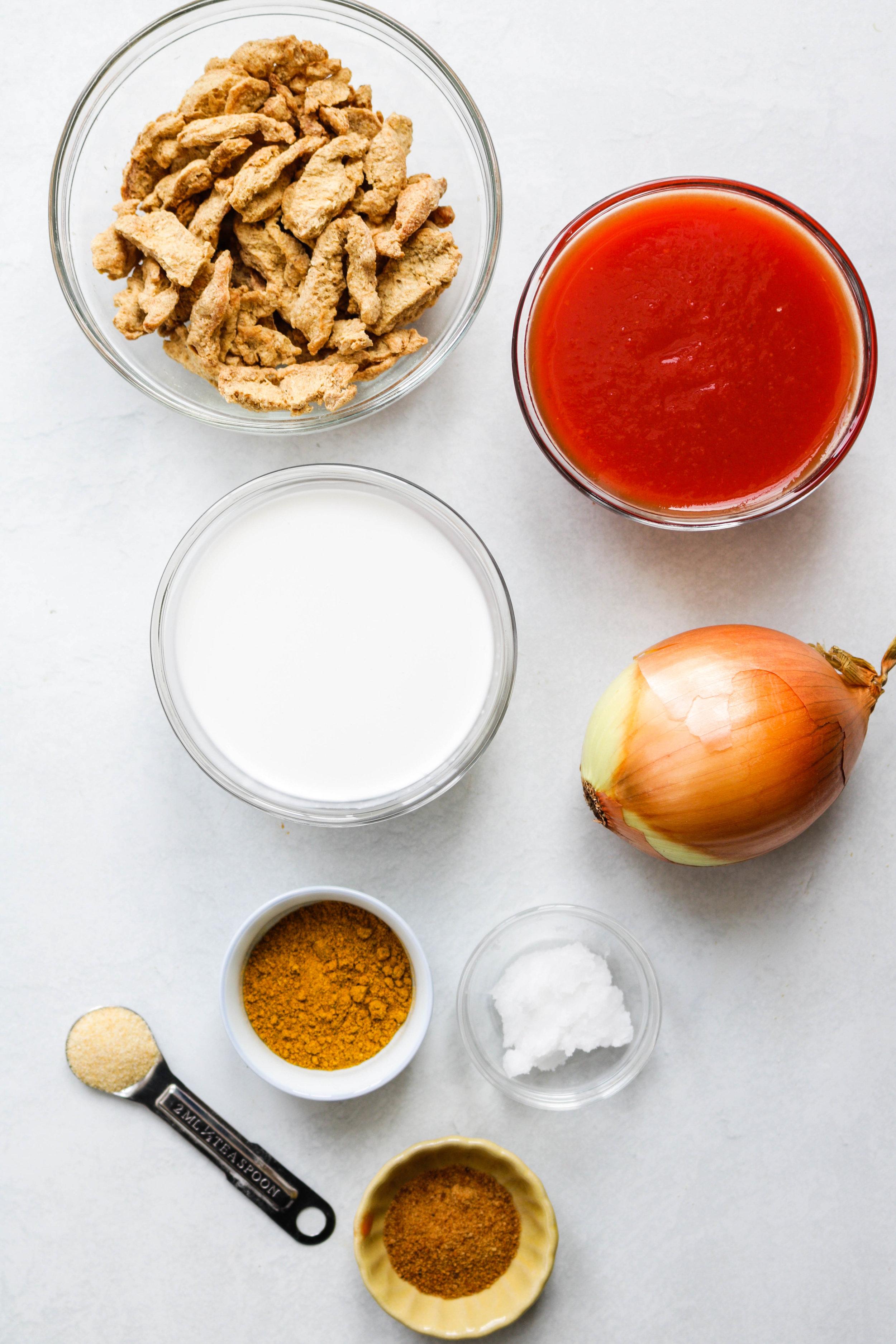vegan tofu butter chicken ingredients