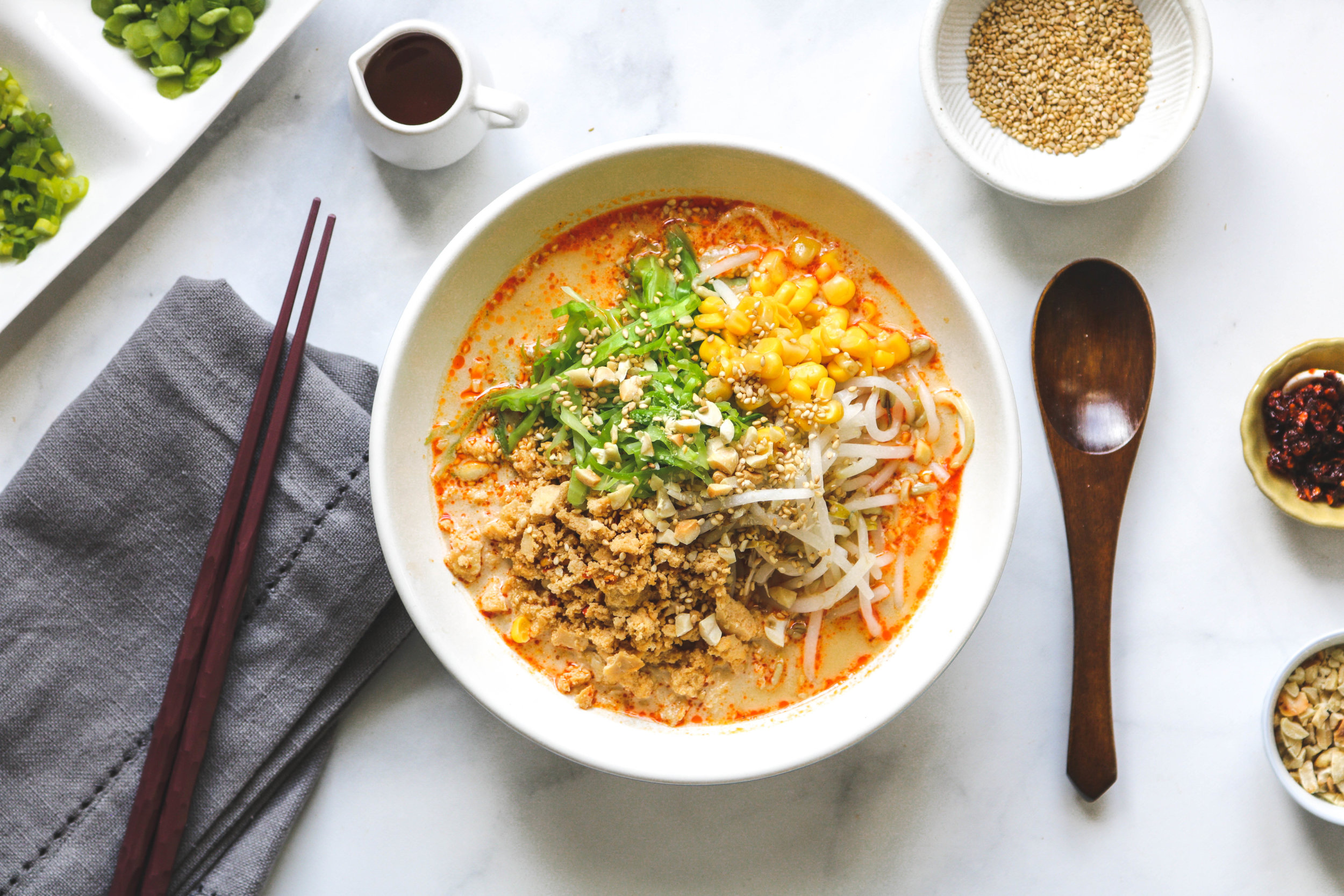 Vegan Sesame Tantanmen (Homemade Ramen
