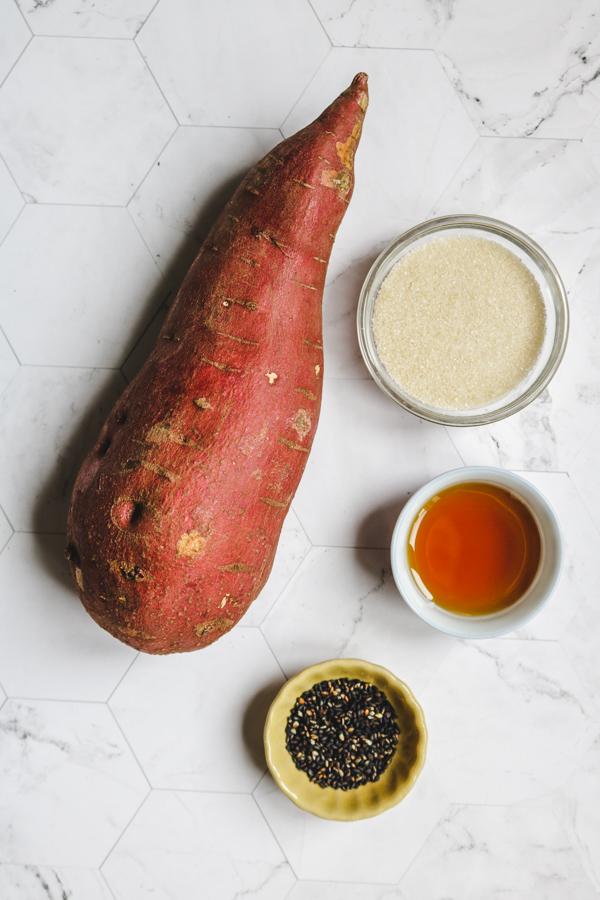 candied japanese sweet potato ingredients