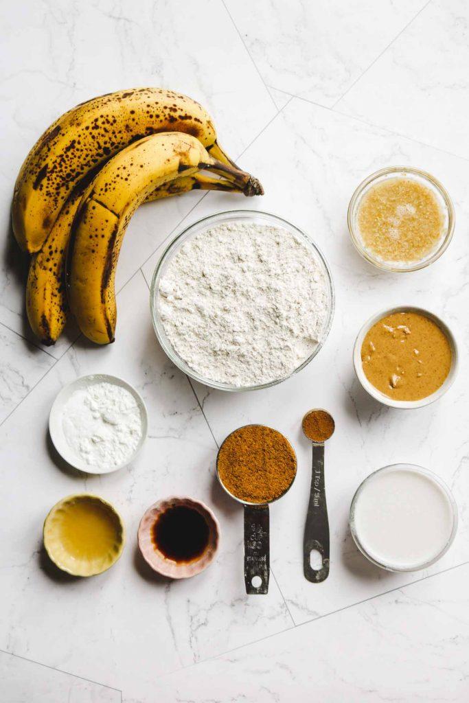 healthy vegan gluten free banana bread ingredients
