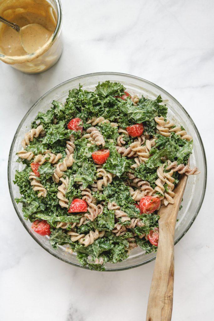 vegan caesar dressing in bowl
