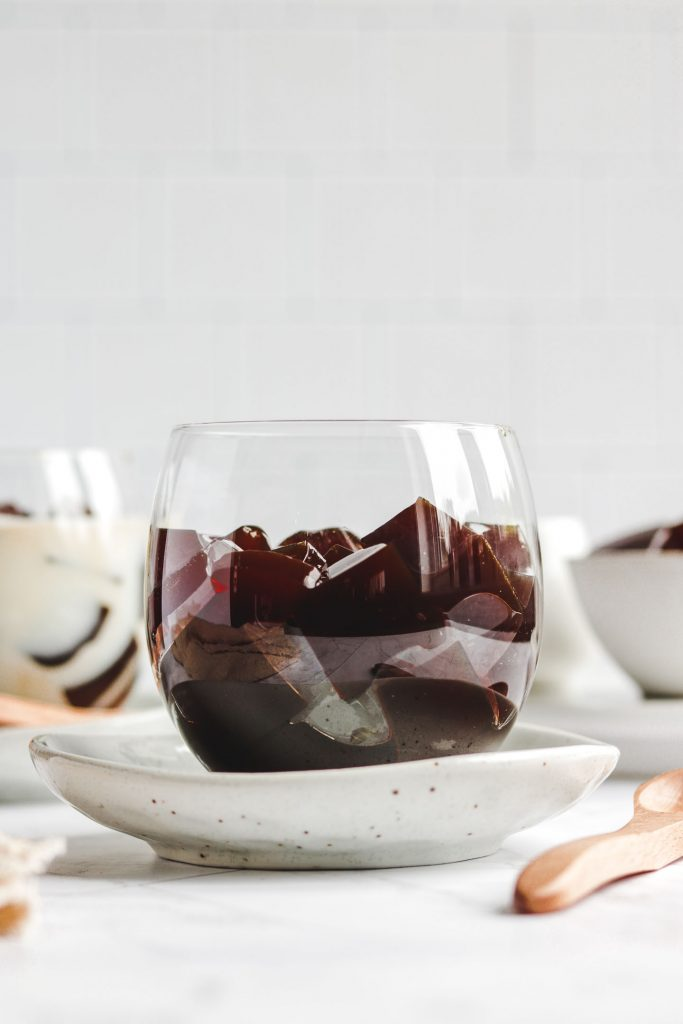 coffee jello in a cup