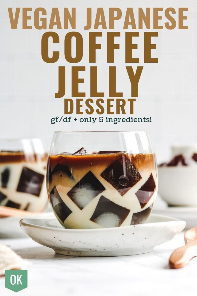 vegan japanese coffee jelly dessert