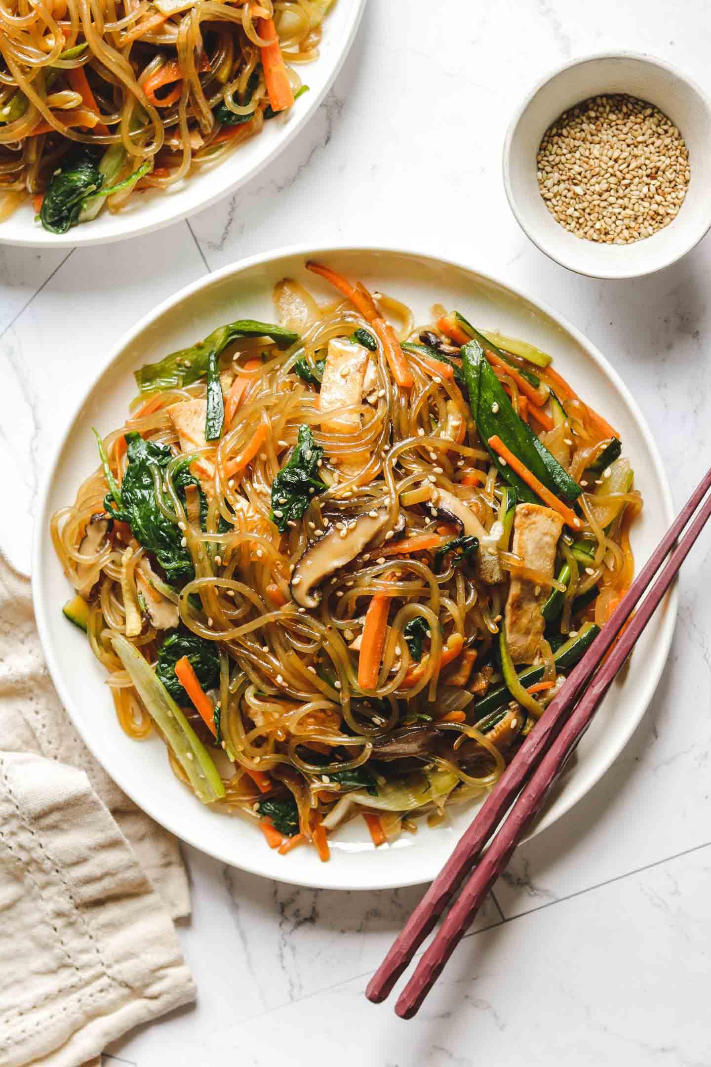veggie japchae recipe Vegan Japchae