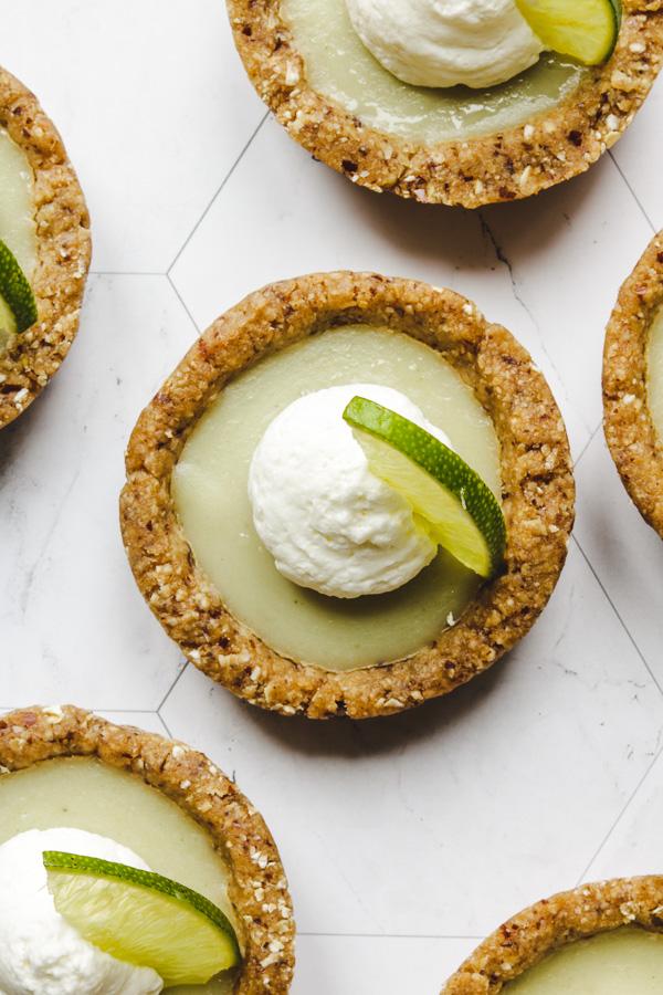 no bake key lime pie close up