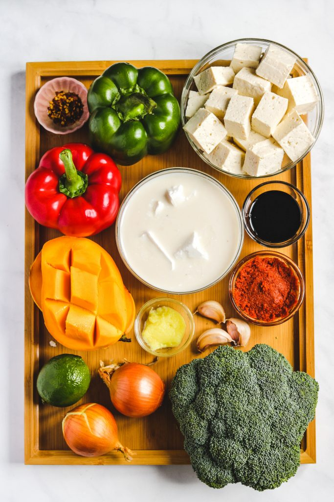 mango coconut curry ingredients