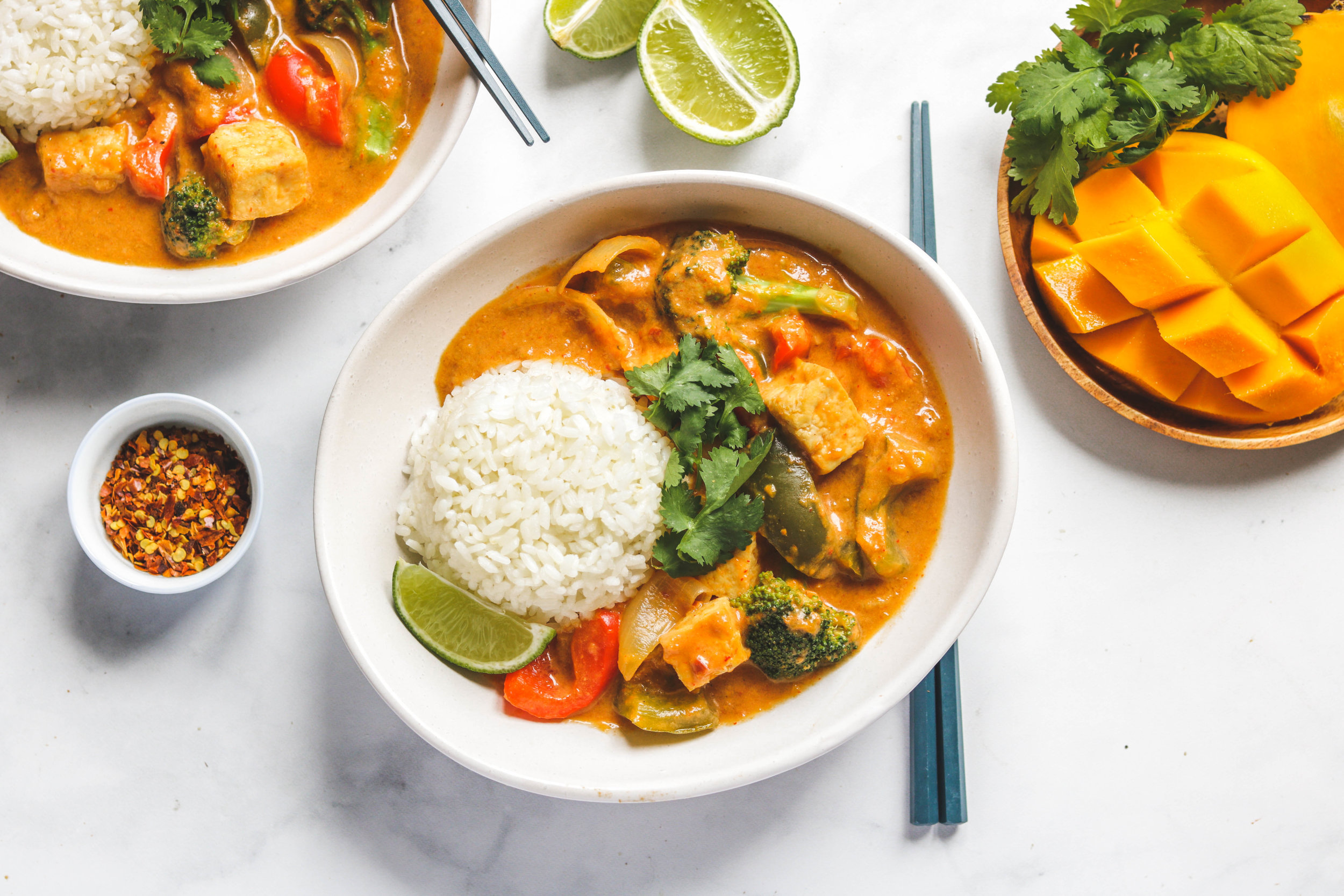 coconut mango tofu curry