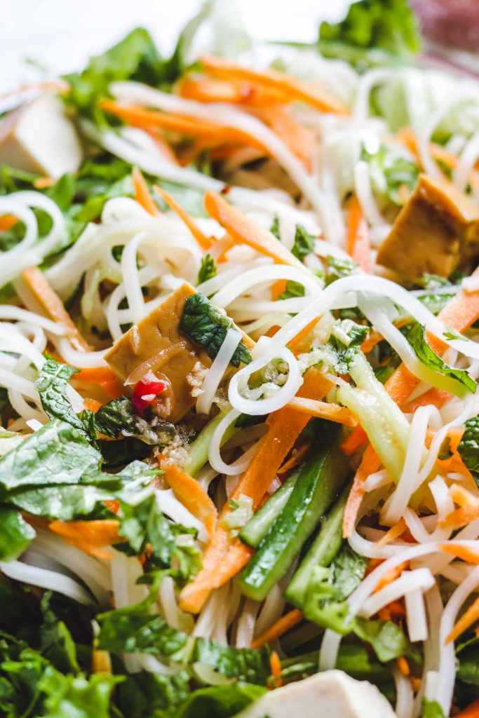 Vietnamese rice Noodle Salad vegetarian