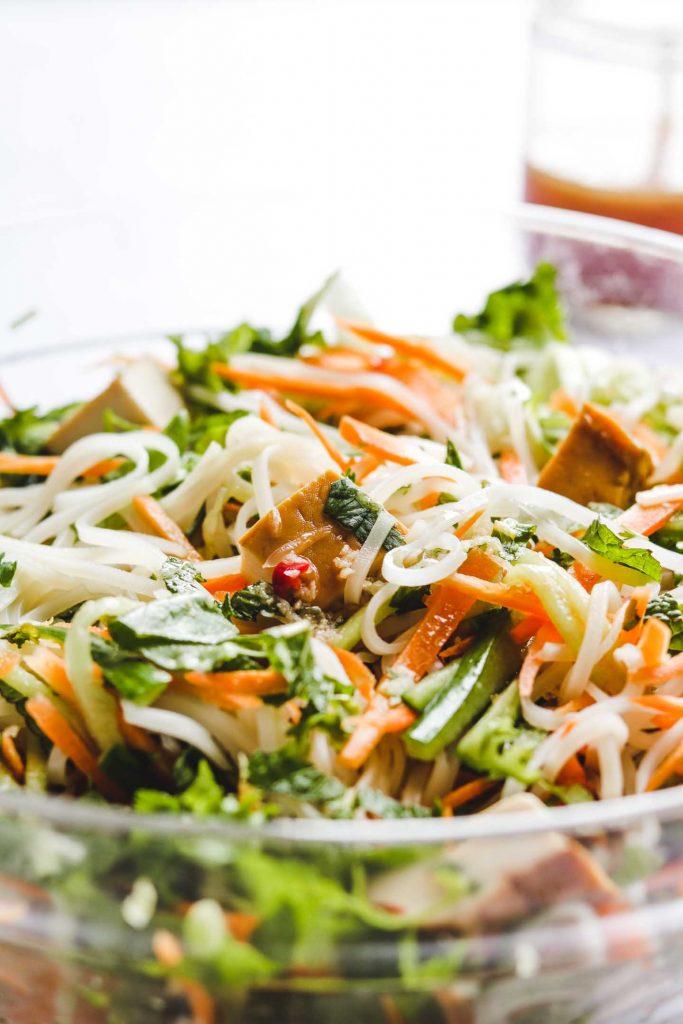 Vietnamese Vermicelli Noodle Salad vegetarian