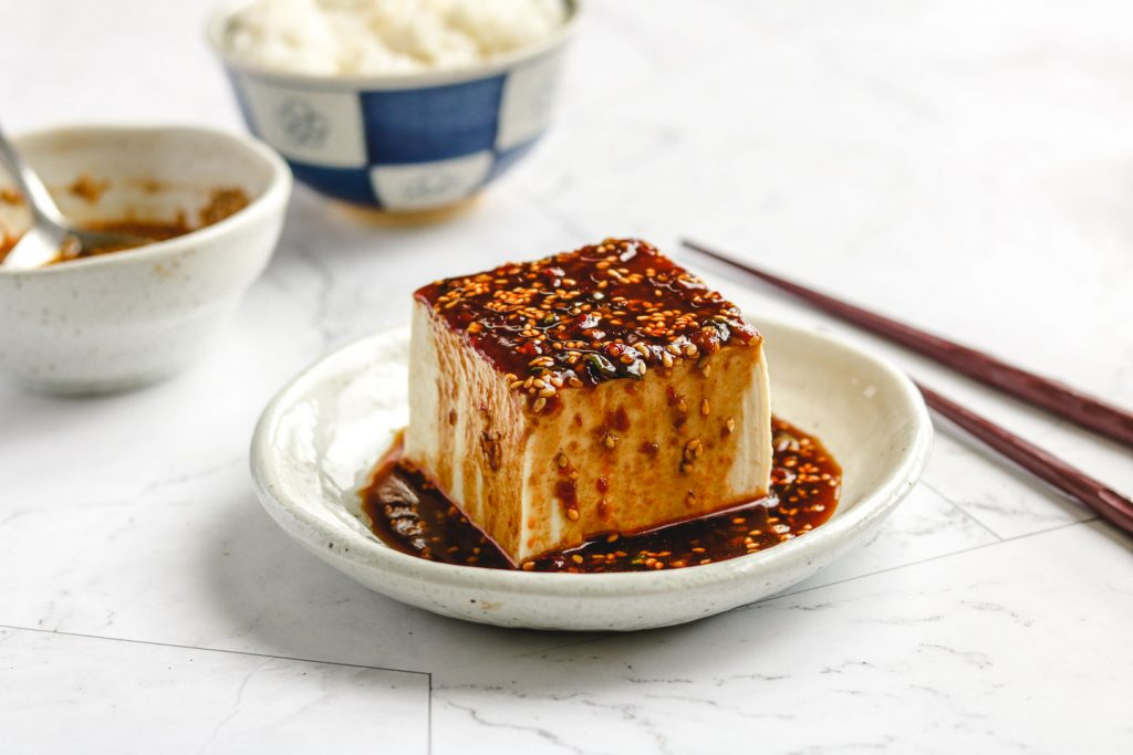 cold tofu with spicy bean sauce landscape picture