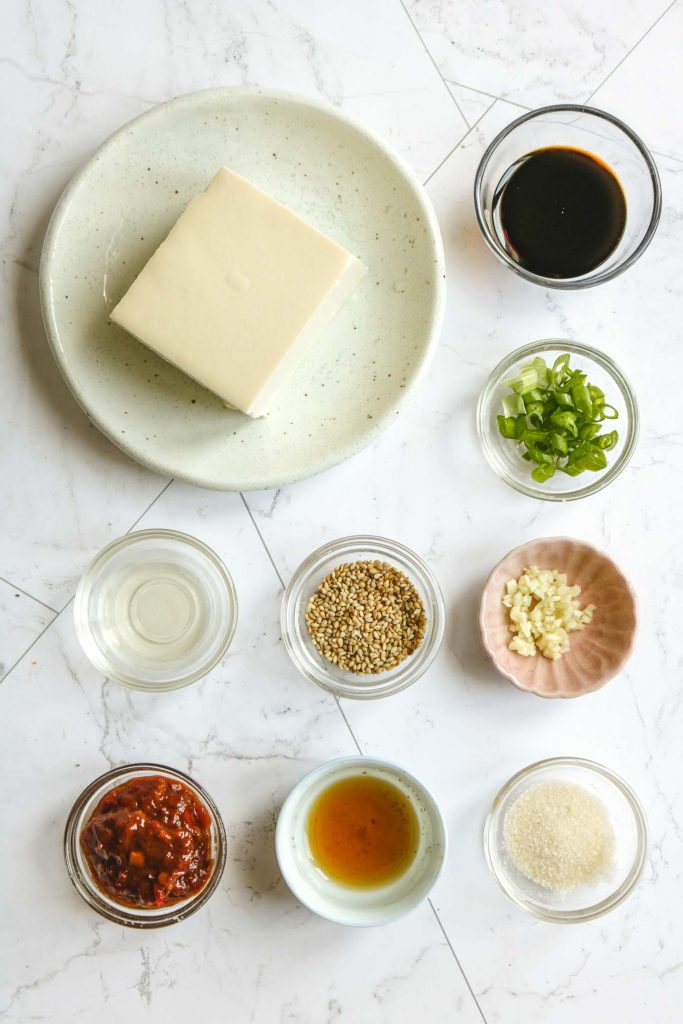 cold tofu with spicy bean sauce ingredients