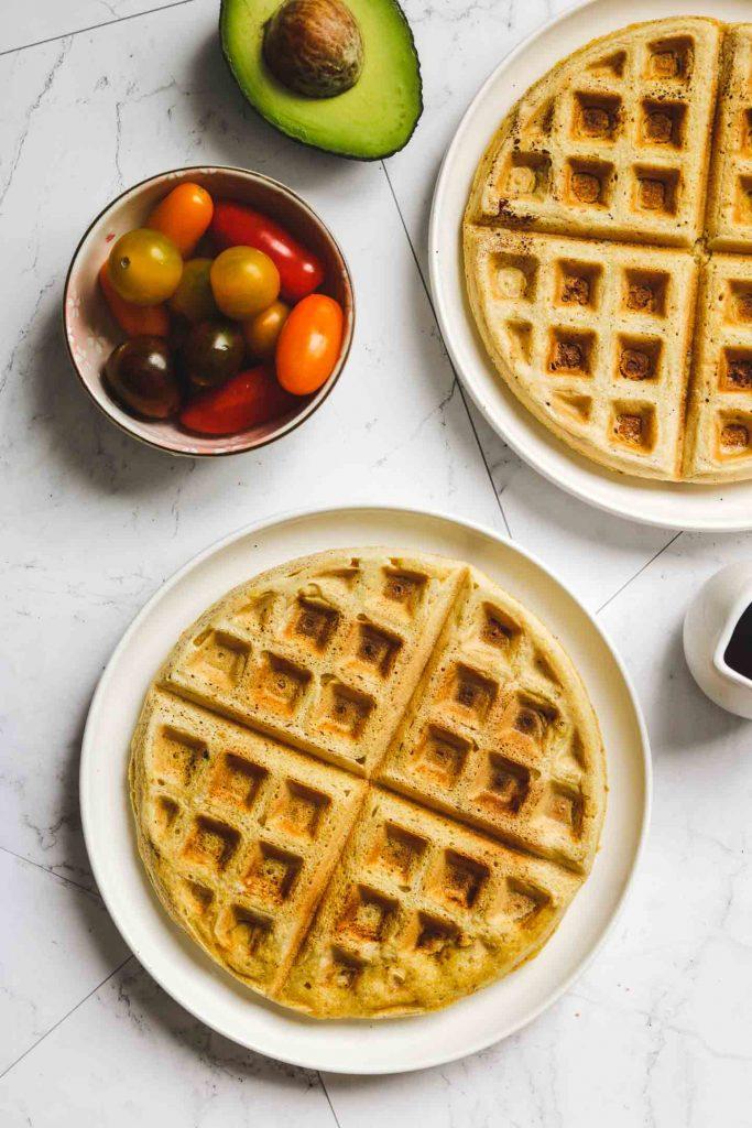 vegan cornmeal waffles
