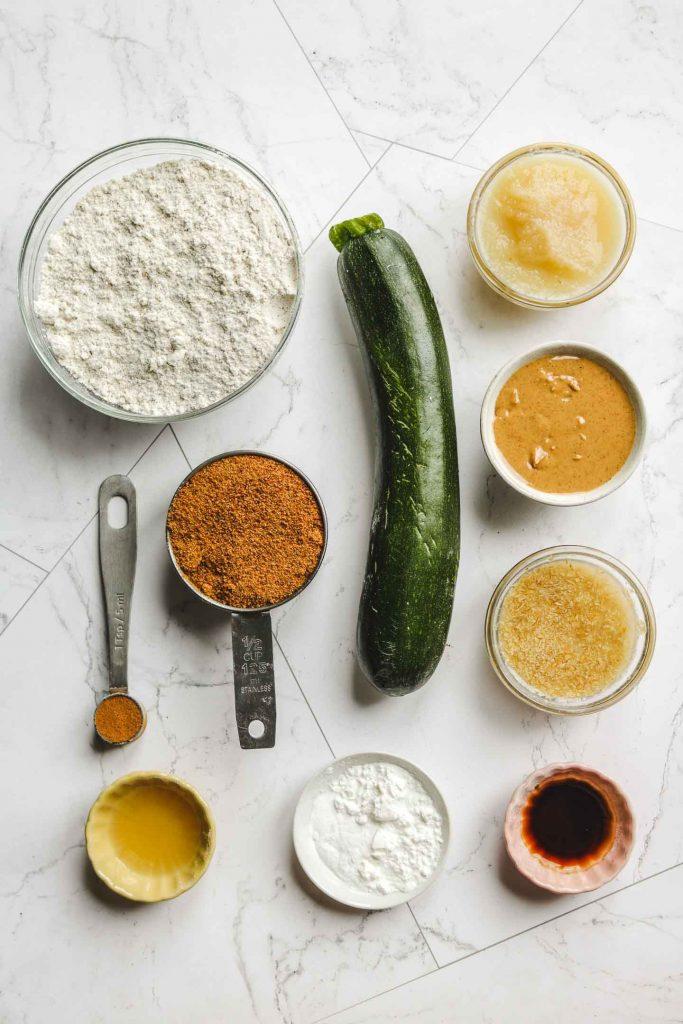 vegan gluten free zucchini bread ingredients