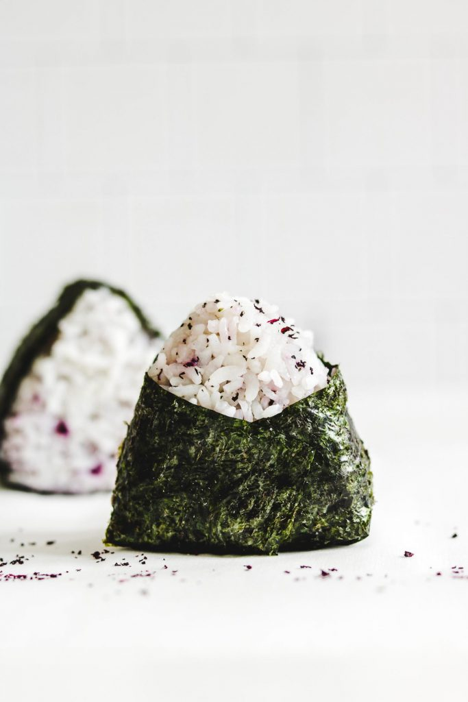 rice ball wrapped with sea weed