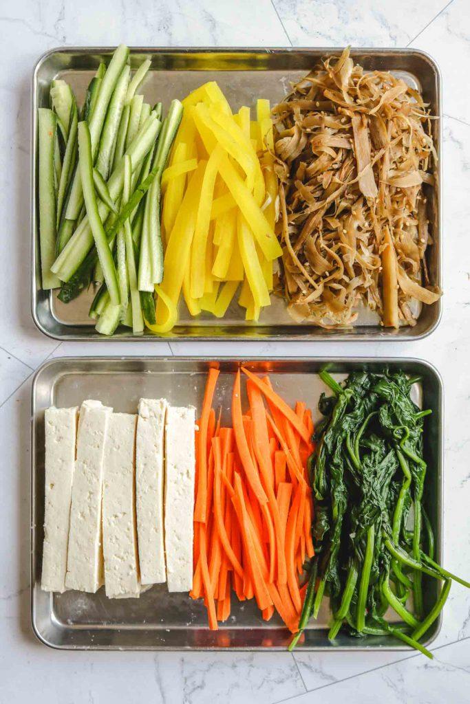 vegan kimbap ingredients