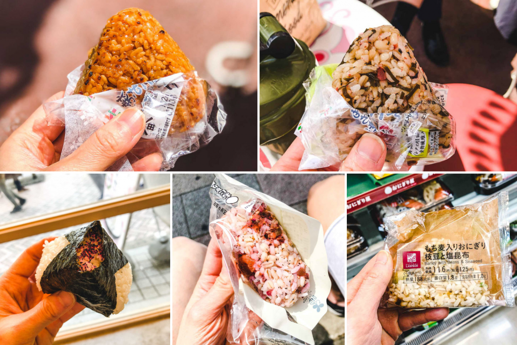 5 types of vegan onigiri sold in japan