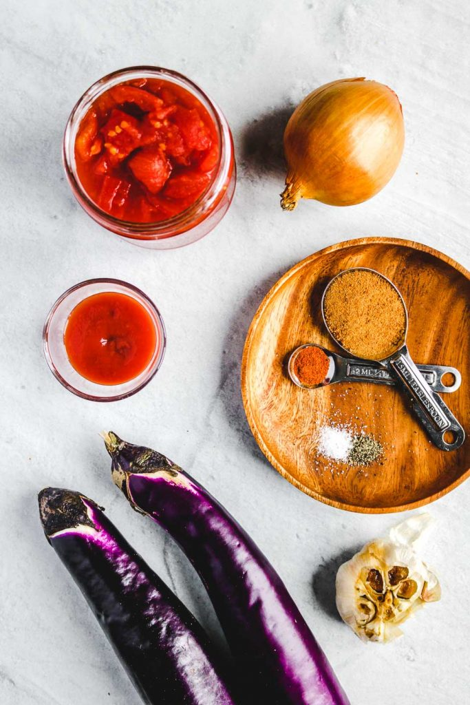 spicy eggplant tomato dip ingredients