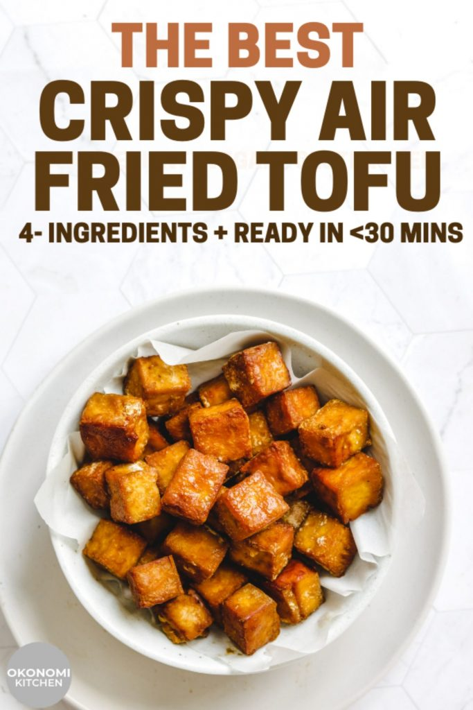 quick and easy tofu pinterest image