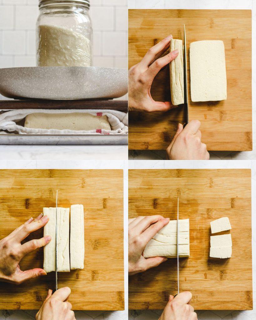 steps to make air fried tofu