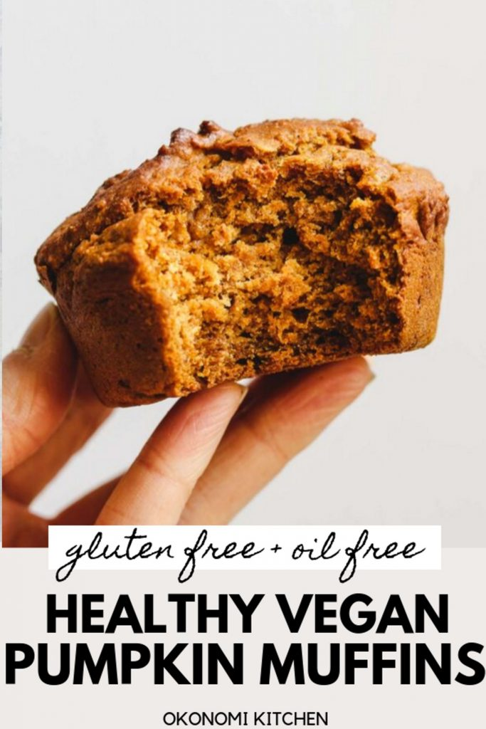 holding a vegan gluten free pumpkin muffins bite shot pinterest photo