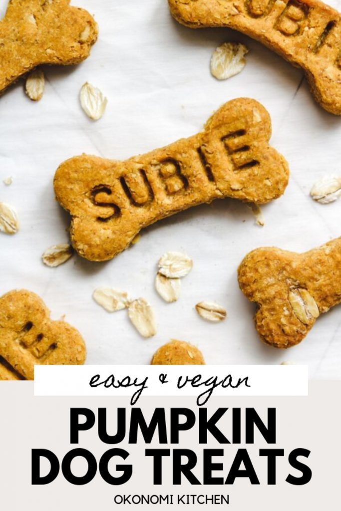 pumpkin spice dog treats recipe with customized name and oats