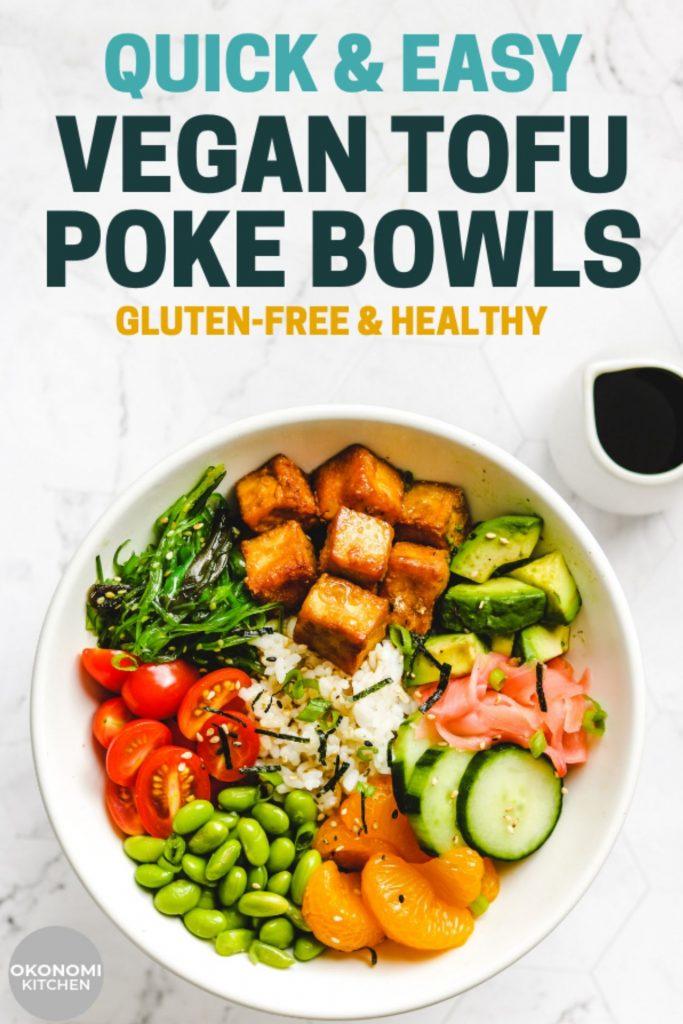 vegan poke bowl pinterst image