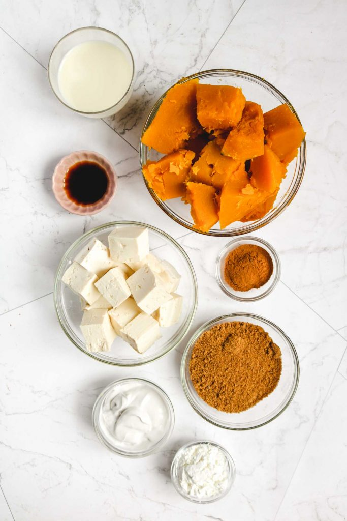 vegan crustless pumpkin pie ingredients