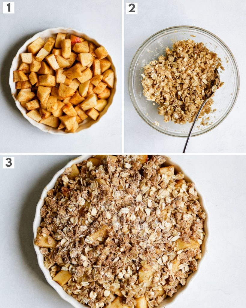 step by step how to make the best apple crisp