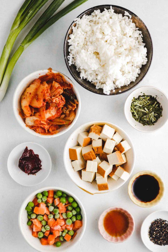 vegan kimchi fried rice ingredients