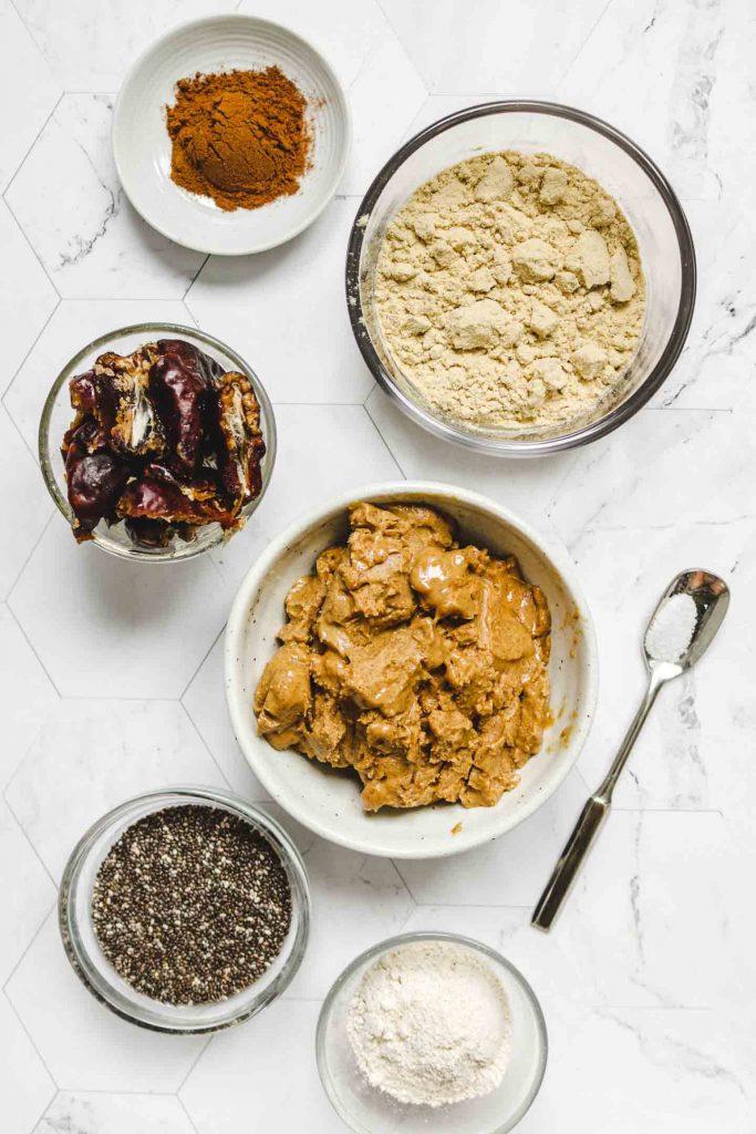 vegan pumpkin spice protein balls ingredients