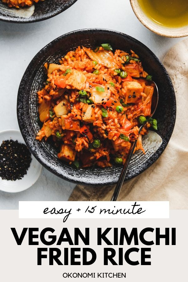 easy vegan kimchi fried rice pinterest photo