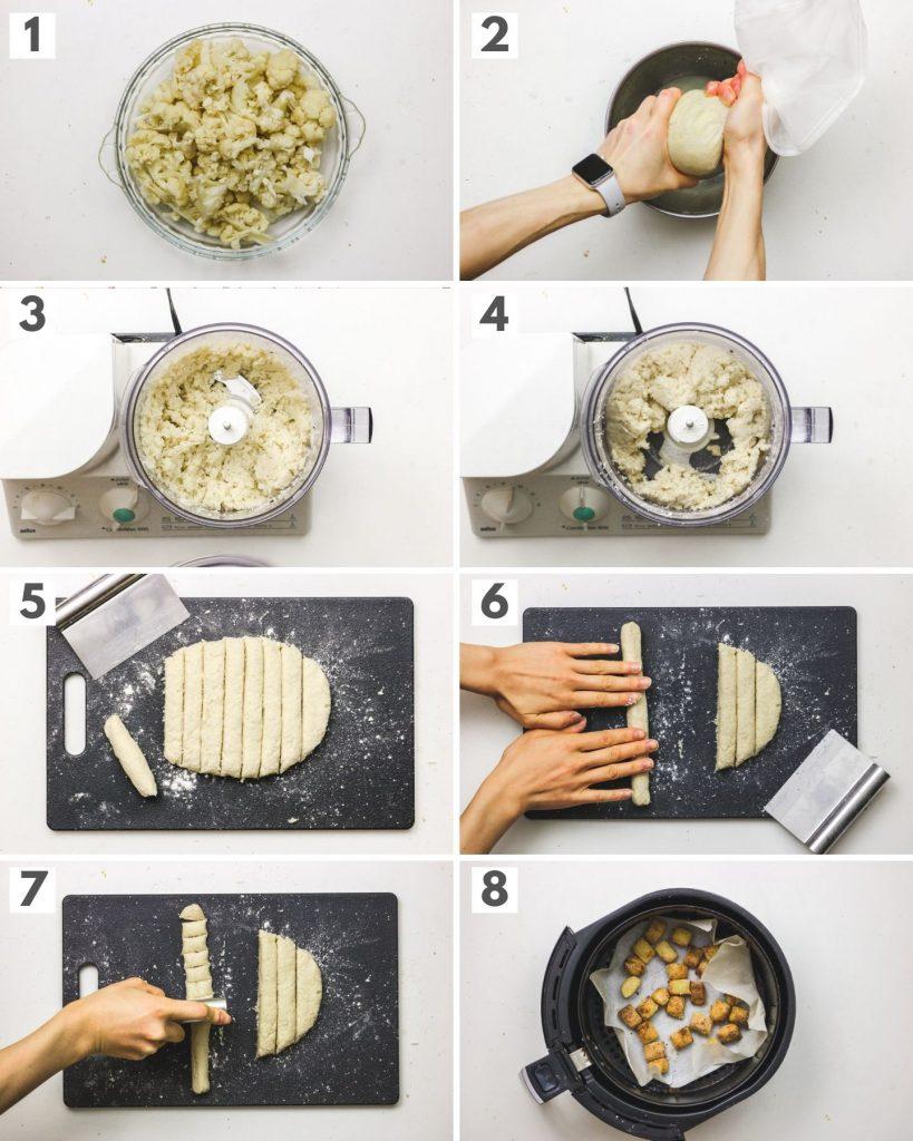 step by step how to make cauliflower gnocchi