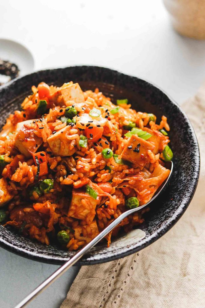korean vegetable fried rice