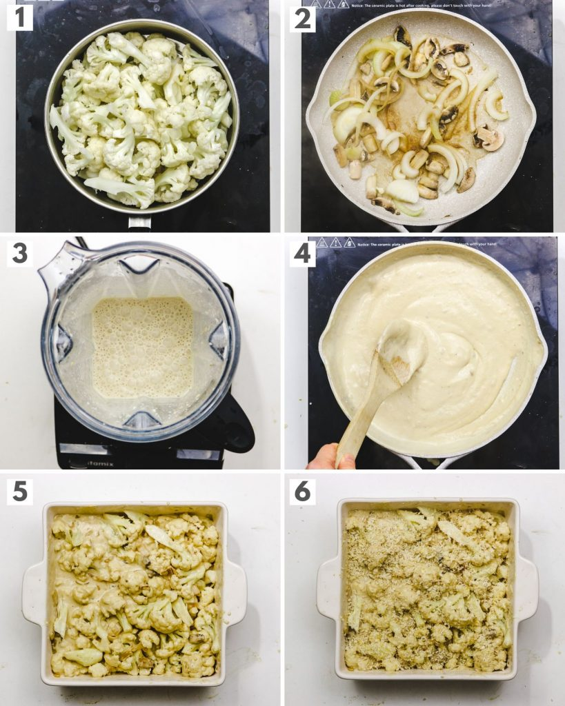 step by step how to make vegan cheese casserole