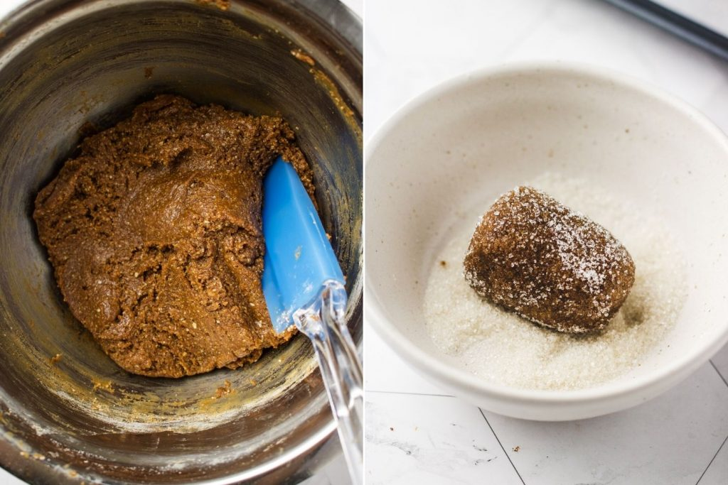 how to make make vegan ginger molasses cookies