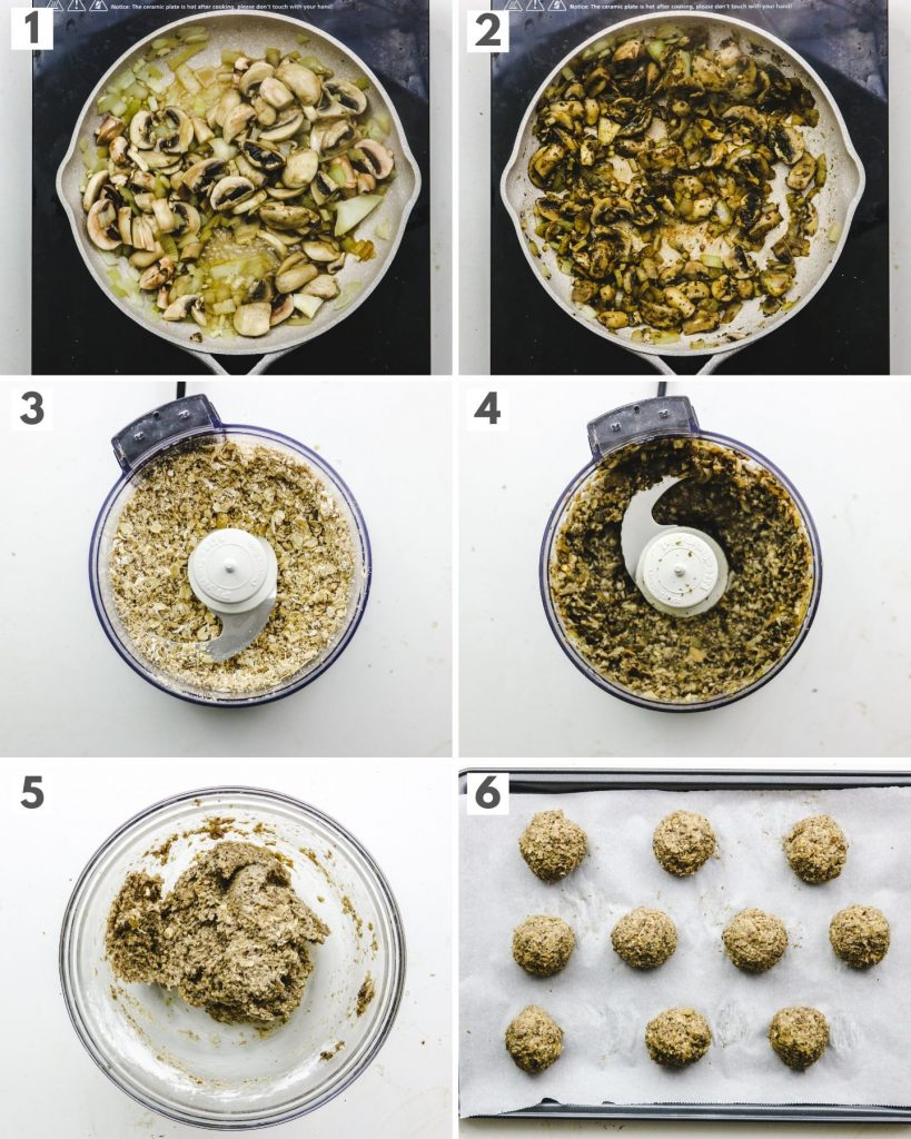 step by step how to make meatless vegan meatballs