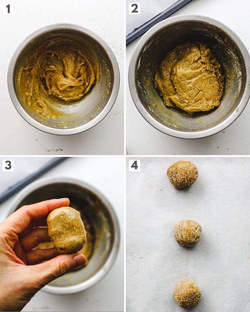 step by step how to make gluten free healthy vegan snickerdoodles