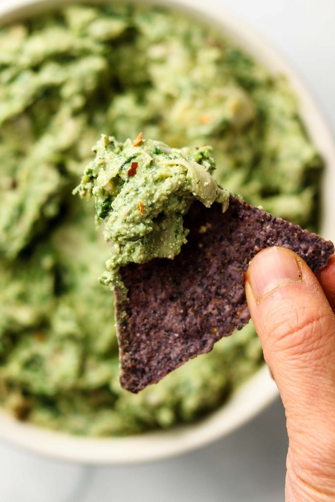 Avocado Spinach Artichoke Dip Vegan Okonomi Kitchen