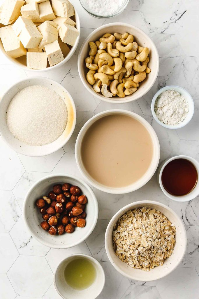 vegan baked eggnog cheesecake ingredients