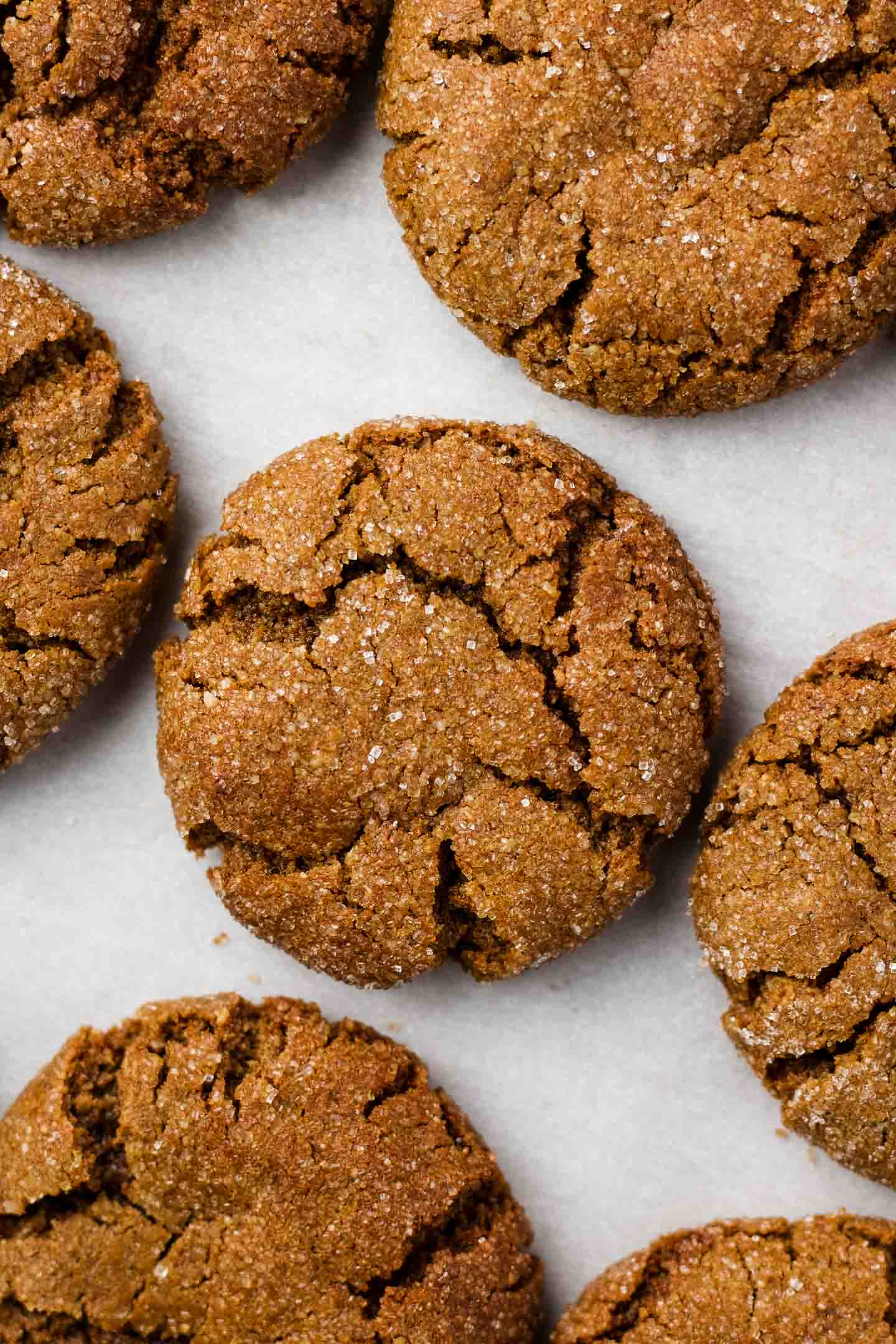 Vegan Ginger Molasses Cookies Soft Chewy Okonomi Kitchen