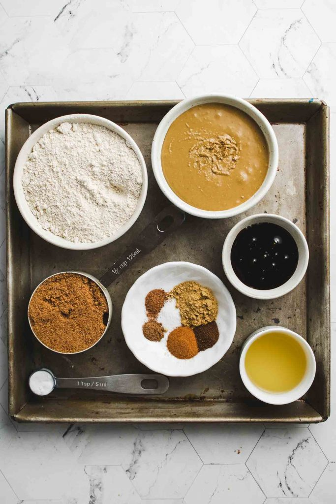 vegan ginger molasses cookies ingredients