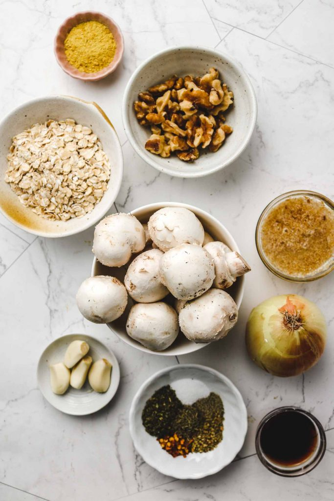 vegan mushroom meatballs ingredients