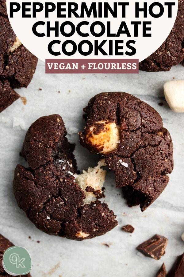 pinterest vegan flourless peppermint hot chocolate cookies