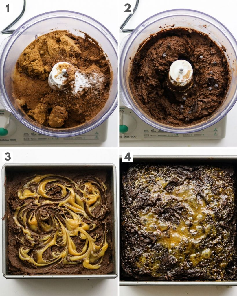 step by step how to make vegan black bean brownies