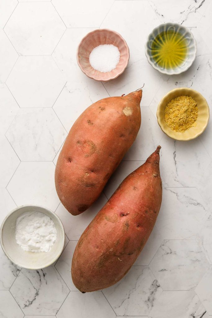 ingredients for roasted sweet potatoes