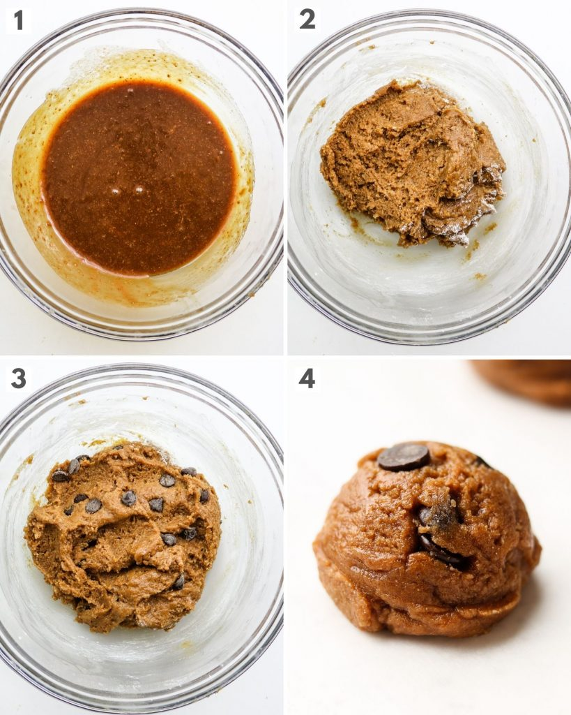step by step how to make vegan chocolate chip cookies