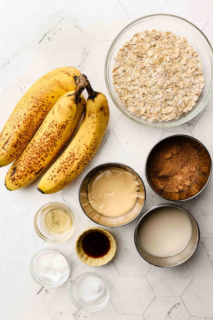 vegan banana muffin ingredients