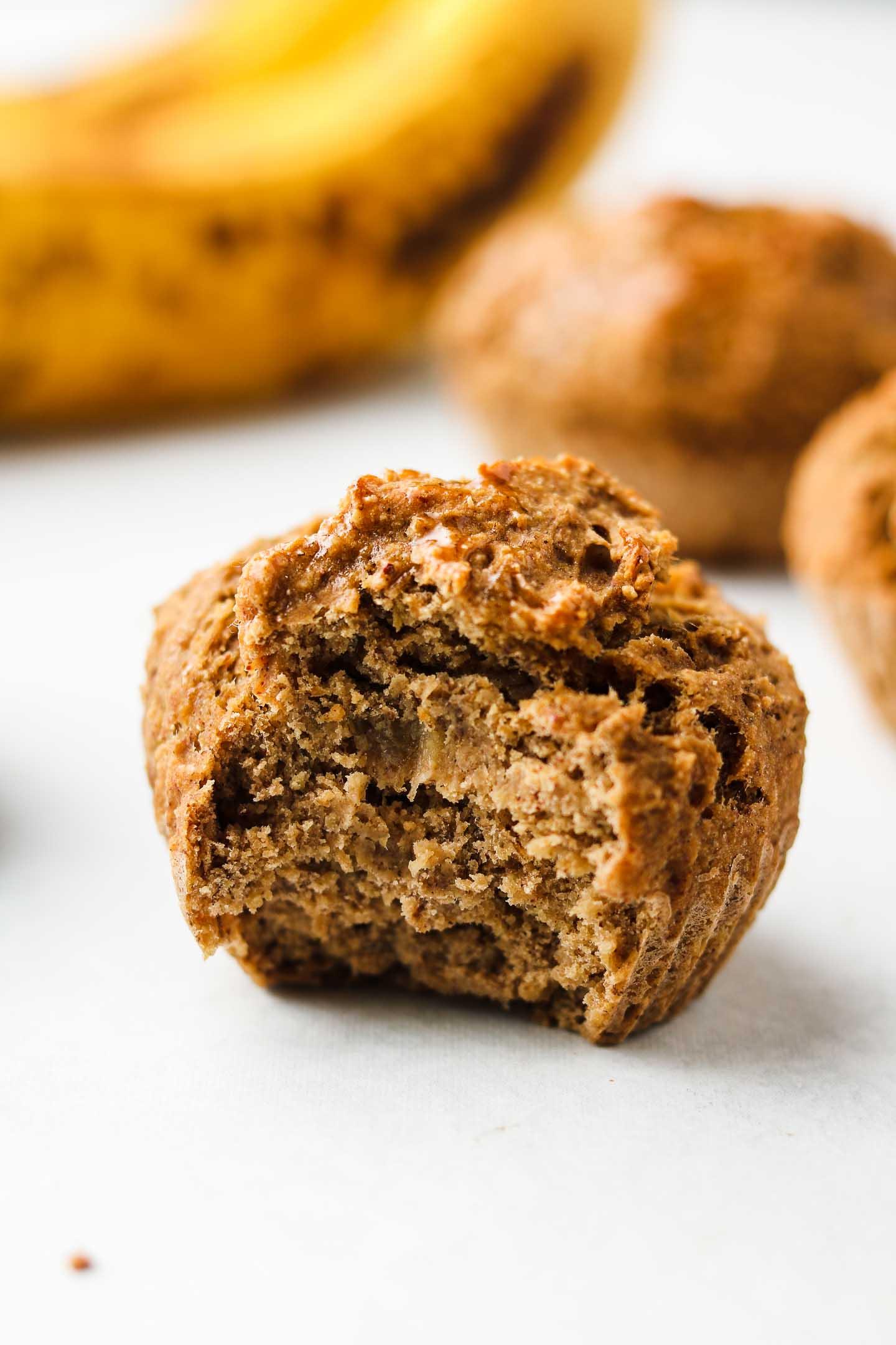 Vegan Banana Protein Muffins Gluten Free Oil Free Okonomi Kitchen