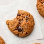 brown butter chocolate chip cookies with a bite